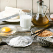 Stock Photo: Ingredients for baking