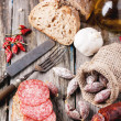 Sausage and bread — Stock Photo #41687297