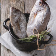 Stock Photo: Tow raw fish with rosemary
