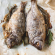 Stock Photo: Tow grilled fish
