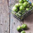 Food basket of brussels sprouts — Stock Photo #42120107