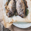 Tow grilled dorado fish — Stock Photo