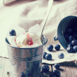 Ice cream with blueberries — Stock Photo #44335981