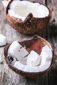 Broken coconut — Stock Photo