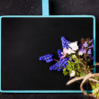 Chalkboard with flowers — Stock Photo #44600789