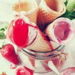 Strawberry ice cream — Stock Photo #46737769
