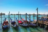 Venetië met gondels — Stockfoto