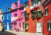 Colorful houses on Burano — Stock Photo