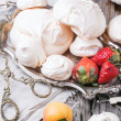 Meringue with apricot and strawberry — Stock Photo #47133613