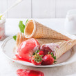 Strawberry ice cream — Stock Photo #47137479