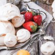 Meringue with apricot and strawberry — Stock Photo #47137955