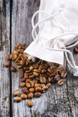 Unroasted decaf coffee beans — Stock Photo