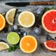 Set of sliced citrus fruits — Stock Photo #47547611