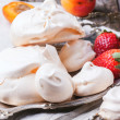 Meringue with apricot and strawberry — Stock Photo #47548467