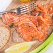 Snack with salted salmon — Stock Photo #50069017