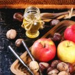 Honey, nuts and apples — Stock Photo #50873497