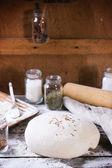Baking bread — Stock Photo