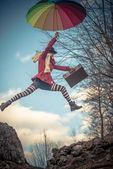 Chica de salto — Foto de Stock