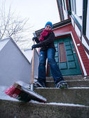 Snow sweep — Stock Photo