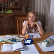 Stockfoto: Girl studying