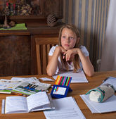 Chica estudiando — Foto de Stock