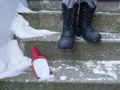 Snö sopa — Stockfoto