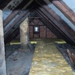 Stock Photo: Old attic of house