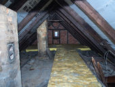 Old attic of a house — Stock Photo
