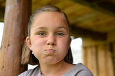 Girl making funny face — Stock Photo