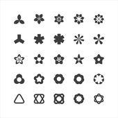 Logic Shape Icon Set — Stock Vector