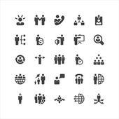 Set di icone di affari — Vettoriale Stock