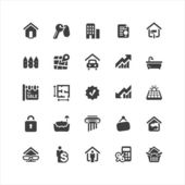 Real Estate Icons Set — Stock Vector