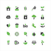 Eco Icons Set — Stock Vector