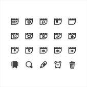 Calendar Icons Set — Stock Vector