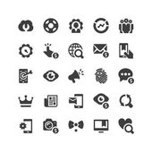 SEO icons set — Stock Vector