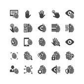 Biometric Icons Set — Stock Vector