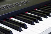 Piano keys close-up — Stock Photo