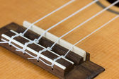 Closeup of ukulele hawaiian guitar — Stock Photo