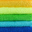 Stock Photo: Stacked colorful towels