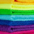 Stock Photo: Stack of colorful towels