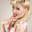 Portrait of pin-up blonde woman — Stock Photo #32313943