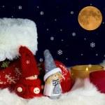 Two little Santas — Stock Photo