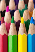 Rows of colorful pencils close-up — Stock Photo