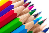 Heap of colorful pencils — Stock Photo