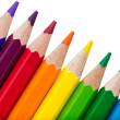 Row of colourful pencils isolated over white background — Stock Photo #39300377