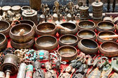 Bunch of traditional souvenirs (market in Nepal, Kathmandu) — Stock Photo