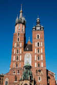 St. Mary's catholic church in Krakow, Poland — Stock Photo