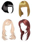 Wigs set — Stock Vector