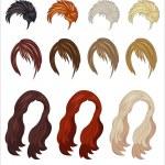 Women's wigs — Stock Vector #45735637