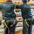 Two Firemen FDNY in Bakery — Stock Photo